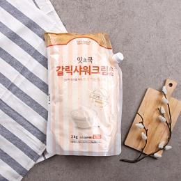 잇츠쿡 갈릭샤워크림소스 2kg 냉장